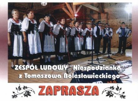 """Zaproszenie na koncert """"Majowy Ludowy Zawrót Głowy"""""""