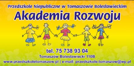 """Rekrutacja do Przedszkola Niepublicznego """"Akademia Rozwoju"""" w Tomaszowie Bolesławieckim na rok szkolny 2020-2021"""